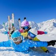 Skiing, winter, snow,  skiers, sun and fun — Stock Photo #47442501