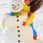 Winter fun - lovely girl enjoying winter holiday — Stock Photo #47442643
