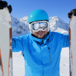 Ski, skier, winter sport - portrait of skier — Stock Photo #47443805