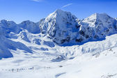 Winter mountains, ski run in Italian Alps — Stock Photo