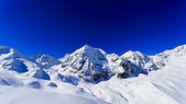 Winter mountains - ski slopes in Italian Alps — Stock Photo