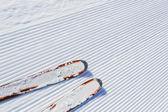 Esqui de fundo - a neve fresca na pista de esqui — Foto Stock