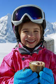 Skier, winter, child — Stock Photo