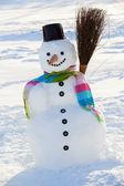 Winter, snow, snowman - winter joy — Stock Photo