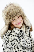 Winter, snow, winter fashion girl — Stock Photo