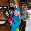 Winter, snow - family fun at winter time — Stock Photo #47812981