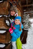 Winter, snow - family fun at winter time — Stock Photo