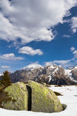 Springtime in Dolomites mountain, Italian Alps (unesco natural world heritage in Italy) — Stock Photo
