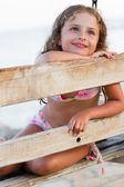 Summer joy - Lovely girl on summer vacations — Stock Photo