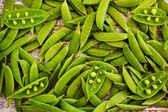 Peas - Fresh pods of sugar snap peas — Стоковое фото