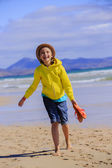 Summer joy - happy girl enjoying summer vacation — Стоковое фото