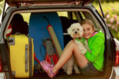 Summer holiday, Travel - family ready for the travel for summer  — Stock Photo