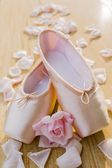 Ballet pointe shoes  — Stock Photo