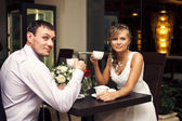 Love and a little coffee — Stock Photo