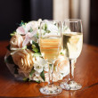Two glasses on the table — Stock Photo