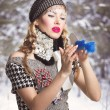 Snow maiden — Stock Photo #26398929