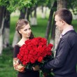 Rendezvous with roses — Stock Photo