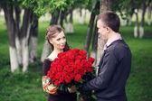 Rendez-vous met rozen — Stockfoto
