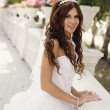 Beautiful bride in the park — Stock Photo