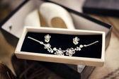 Luxury necklace in box — Stock Photo