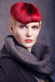 Fashionable hairstyle of all time — Stock Photo