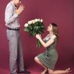 Surprise bouquet for him — Stock Photo #29804777