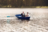 Young just married bride and groom — Stock Photo