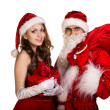 Santa couple — Stock Photo