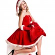 Portrait of young, sexy female Santa — Stock Photo #37101381