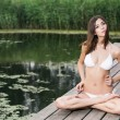 Lotus position — Stock Photo