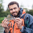 Happy Fisher — Stock Photo
