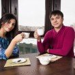 Young couple in the kitchen — Stock Photo #42821485