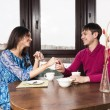 Young couple in the kitchen — Stock Photo #42821659