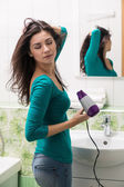 Drying hair — Foto de Stock
