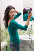 Drying hair — Stockfoto