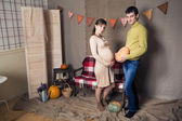 Husband and a pregnant wife — Stock Photo