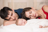 Sleeping family — Stock Photo