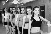 Grupp fitness klass — Stockfoto