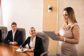 Pregnant business consultant — Stock Photo