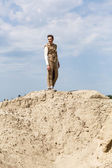 Standing in a desert — Stock Photo