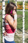 Praten over de telefoon — Stockfoto