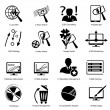 Stock Vector: Different icons for advanced designers