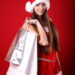 Portrait of a happy santa woman  — Stock Photo #22810314