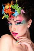 Fashion Brunette Model Portrait — Stock Photo