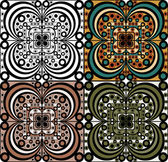 Set of ornamental elements — ストックベクタ