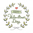 Hand drawn Valentine's Day card — Vettoriale Stock