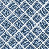 Indigo blue hand drawn seamless pattern — Stock Vector