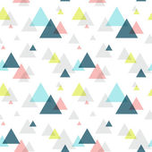 Geometric triangle seamless pattern — Stock Vector