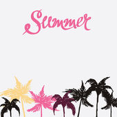 Summer hand drawn background — Stock Vector