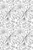 Old school tattoo pattern — Wektor stockowy